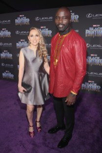 HOLLYWOOD, CA - JANUARY 29: Iva Colter (L) and actor Mike Colter at the Los Angeles World Premiere of Marvel Studios' BLACK PANTHER at Dolby Theatre on January 29, 2018 in Hollywood, California. (Photo by Jesse Grant/Getty Images for Disney) *** Local Caption *** Iva Colter; Mike Colter