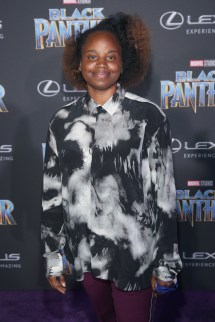 HOLLYWOOD, CA - JANUARY 29: Director Dee Rees at the Los Angeles World Premiere of Marvel Studios' BLACK PANTHER at Dolby Theatre on January 29, 2018 in Hollywood, California. (Photo by Jesse Grant/Getty Images for Disney) *** Local Caption *** Dee Rees