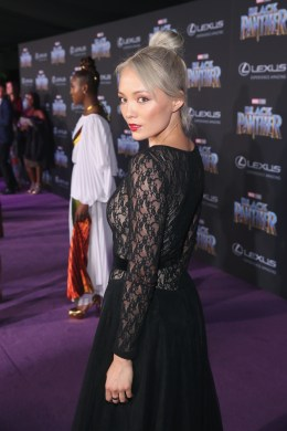 HOLLYWOOD, CA - JANUARY 29: Actor Pom Klementieff at the Los Angeles World Premiere of Marvel Studios' BLACK PANTHER at Dolby Theatre on January 29, 2018 in Hollywood, California. (Photo by Jesse Grant/Getty Images for Disney) *** Local Caption *** Pom Klementieff