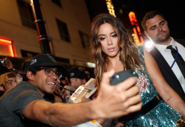 HOLLYWOOD, CA - JANUARY 29: Actor Chloe Bennet at the Los Angeles World Premiere of Marvel Studios' BLACK PANTHER at Dolby Theatre on January 29, 2018 in Hollywood, California. (Photo by Rich Polk/Getty Images for Disney) *** Local Caption *** Chloe Bennet