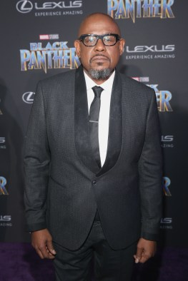 HOLLYWOOD, CA - JANUARY 29: Actor Forest Whitaker at the Los Angeles World Premiere of Marvel Studios' BLACK PANTHER at Dolby Theatre on January 29, 2018 in Hollywood, California. (Photo by Jesse Grant/Getty Images for Disney) *** Local Caption *** Forest Whitaker