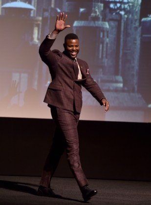 HOLLYWOOD, CA - JANUARY 29: Actor Winston Duke at the Los Angeles World Premiere of Marvel Studios' BLACK PANTHER at Dolby Theatre on January 29, 2018 in Hollywood, California. (Photo by Alberto E. Rodriguez/Getty Images for Disney) *** Local Caption *** Winston Duke