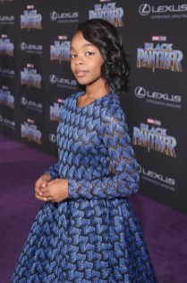 HOLLYWOOD, CA - JANUARY 29: Actor Marsai Martin at the Los Angeles World Premiere of Marvel Studios' BLACK PANTHER at Dolby Theatre on January 29, 2018 in Hollywood, California. (Photo by Jesse Grant/Getty Images for Disney) *** Local Caption *** Marsai Martin