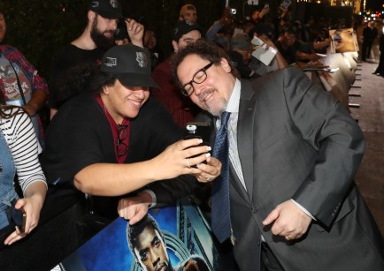 HOLLYWOOD, CA - JANUARY 29: Director/actor Jon Favreau at the Los Angeles World Premiere of Marvel Studios' BLACK PANTHER at Dolby Theatre on January 29, 2018 in Hollywood, California. (Photo by Rich Polk/Getty Images for Disney) *** Local Caption *** Jon Favreau