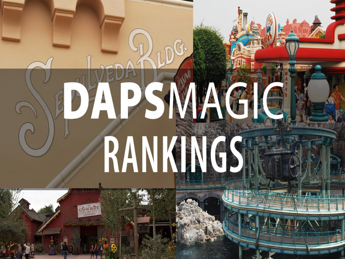 Top Ten Lands in Disney Parks - Part One