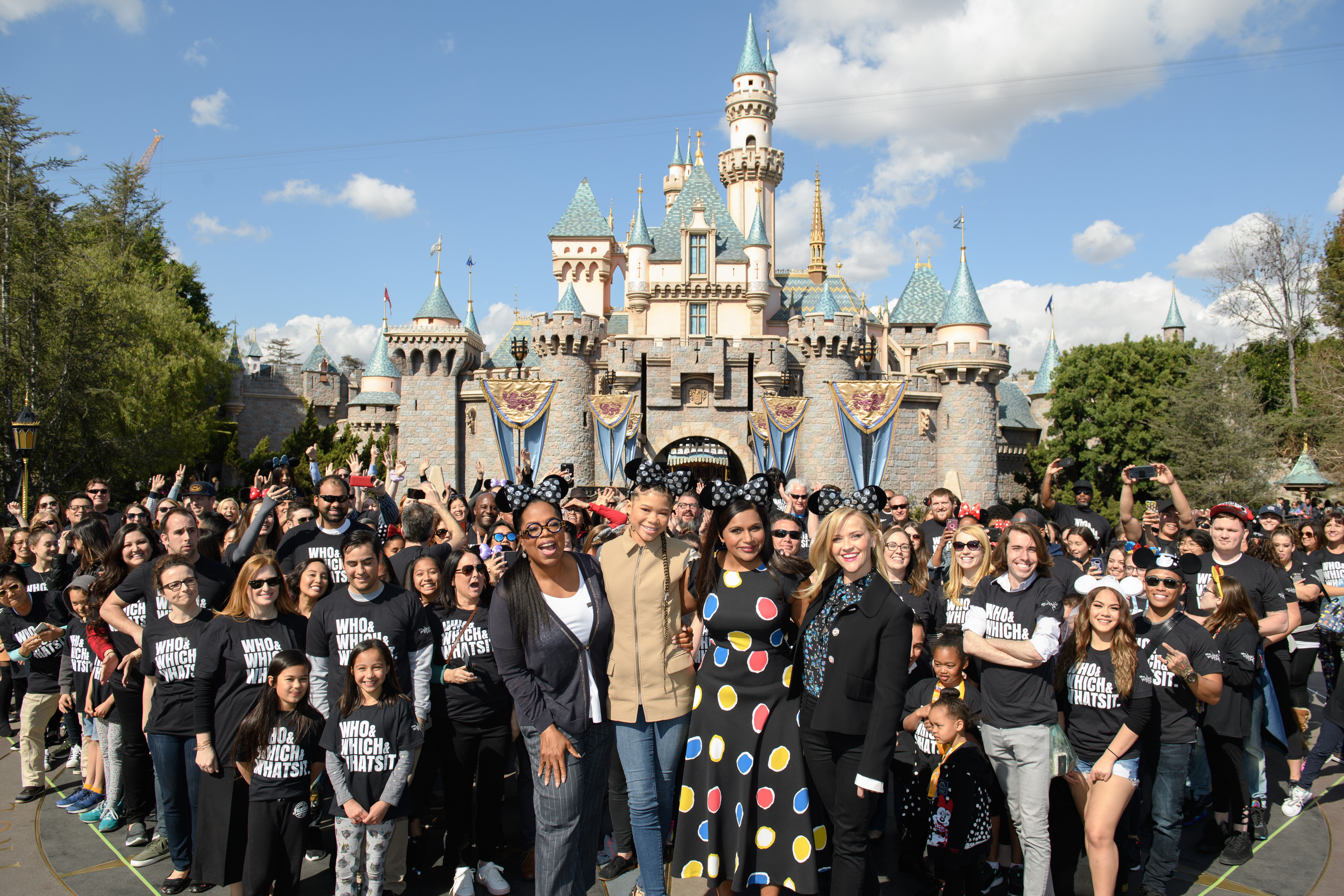 Disney's A Wrinkle in Time Stars Surprise Fans at Disneyland Resort