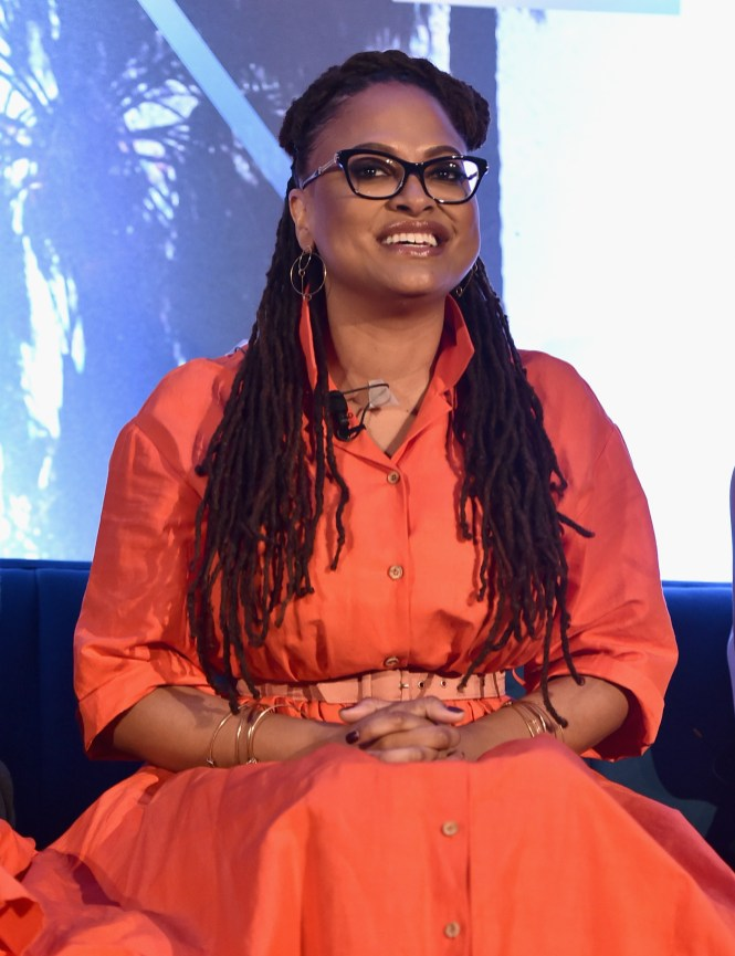 HOLLYWOOD, CA - FEBRUARY 25: Director Ava DuVernay participates in the press conference for Disney's 'A Wrinkle in Time' in Hollywood, CA on March 25, 2018 (Photo by Alberto E. Rodriguez/Getty Images for Disney) *** Local Caption *** Ava DuVernay