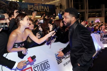 SEOUL, SOUTH KOREA - FEBRUARY 05: Director Ryan Coogler arrives at the red carpet of the Seoul premiere of 'Black Panther' on February 5, 2018 in Seoul, South Korea. (Photo by Han Myung-Gu/Getty Images for Disney) *** Local Caption *** Ryan Coogler