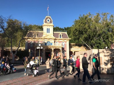 Disneyland Town Square Bricks With Walls Down in Spring-22