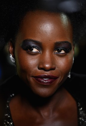 "LONDON, UK - FEBRUARY 08: Lupita Nyong'O attends the European Premiere of Marvel Studios' ""Black Panther"" at the Eventim Apollo, Hammersmith on February 8, 2018 in London, England."