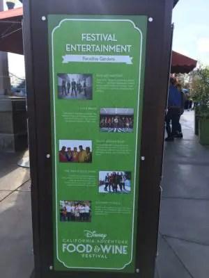 2018 Disney California Adventure Food and Wine Festival Entertainment