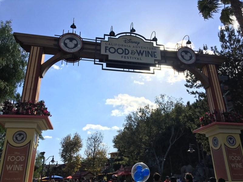 Disney California Adventure Food and Wine Festival Sign