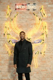 "LONDON, ENGLAND - FEBRUARY 08: Michael B Jordan attends the European Premiere of Marvel Studios' ""Black Panther"" at the Eventim Apollo, Hammersmith on February 8, 2018 in London, England. (Photo by Gareth Cattermole/Getty Images for Disney) *** Local Caption *** Michael B Jordan"