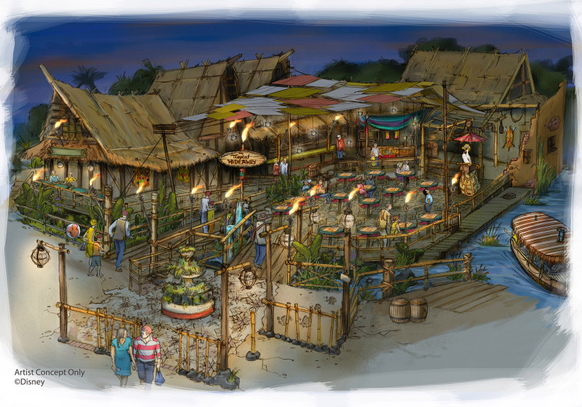 Aladdin's Oasis Converting Into a Tropical Hideaway for Guests in the Disneyland Resort