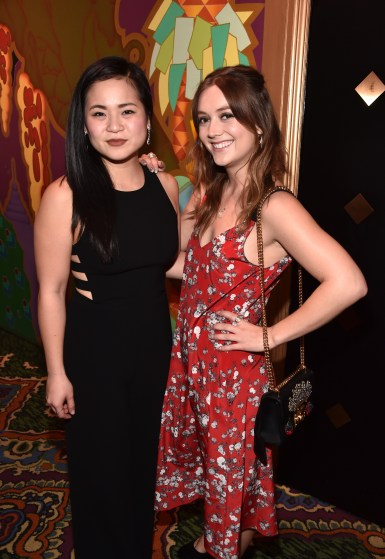 HOLLYWOOD, CA - MARCH 08: Kelly Marie Tran (L) and Billie Lourd at Mark Hamill Star Ceremony on the Hollywood Walk of Fame on March 8, 2018 at Hollywood Walk Of Fame in Hollywood, California. (Photo by Alberto E. Rodriguez/Getty Images for Disney) *** Local Caption *** Kelly Marie Tran; Billie Lourd