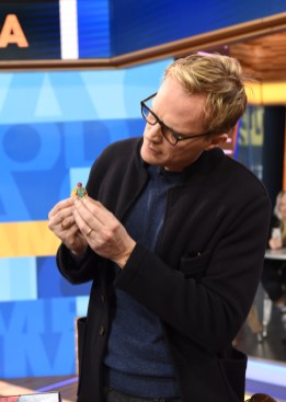Marvel Studios' Avengers Infinity War talent Paul Bettany with his LEGO mini figure