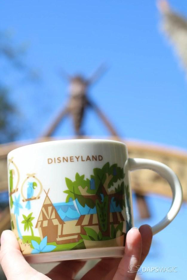 New You Are Here Mug Celebrating Adventureland Now at Disneyland's Market House (Starbucks)!