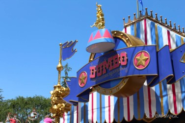 Dumbo - The Flying Elephant New Queue at Disneyland