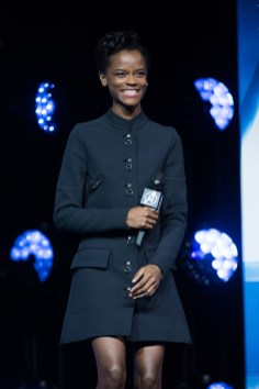 LONDON, ENGLAND - APRIL 08: Letitia Wright attends the UK Fan Event to celebrate the release of Marvel Studios' 'Avengers: Infinity War' at The London Television Centre on April 8, 2018 in London, England. (Photo by Gareth Cattermole/Gareth Cattermole/Getty Images for Disney)