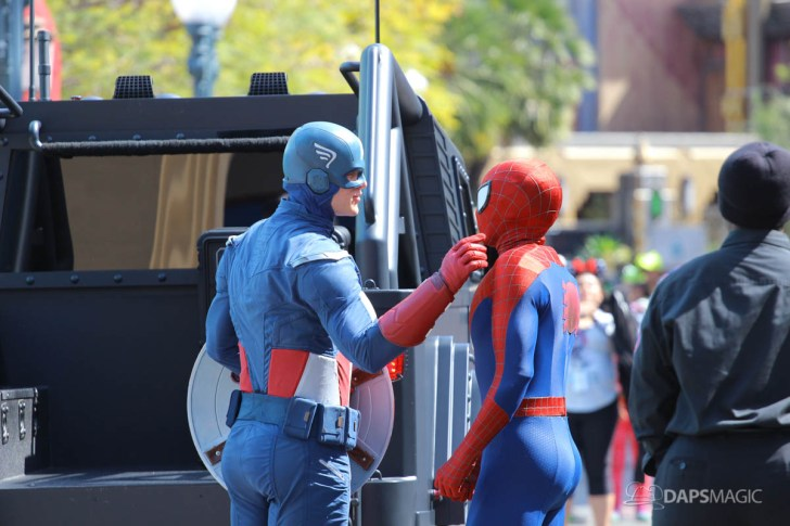 Captain America and Spider-Man - Disney California Adventure
