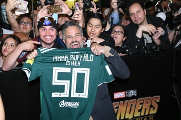 Mark Ruffalo (Bruce Banner/Hulk) the Avengers: Infinity War fan event in Mexico City.
