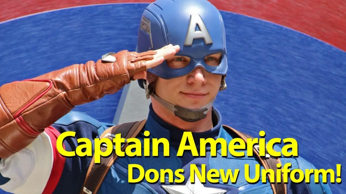 Captain America Dons New Uniform at New Location in Disney California Adventure