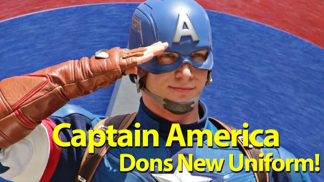 Captain America Dons New Uniform in Disney California Adventure