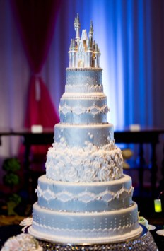 Custom wedding cake designs are just one of the many options available to couples planning their wedding with Disney's Fairy Tale Weddings. From intimate occasions to grand affairs, Disney's Fairy Tale Weddings gives couples the opportunity to leave all the planning in expert hands to personally customize one of the most memorable experiences of a lifetime. Couples also have their choice of several unique wedding locations, including Disney's world-class theme parks, luxury resorts, or Disney's Fairy Tale Wedding Pavilion, adjacent to the luxurious Grand Floridian Resort & Spa on Seven Seas Lagoon in Lake Buena Vista, Fla. (Chloe Rice, photographer)