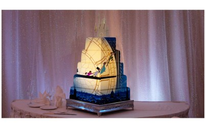 Fully customizable image mapping projection technology transforms a wedding cake and is just one of the many options available to couples planning their wedding with Disney's Fairy Tale Weddings. From intimate occasions to grand affairs, Disney's Fairy Tale Weddings gives couples the opportunity to leave all the planning in expert hands to personally customize one of the most memorable experiences of a lifetime. Couples also have their choice of several unique wedding locations, including Disney's world-class theme parks, luxury resorts, or Disney's Fairy Tale Wedding Pavilion, adjacent to the luxurious Grand Floridian Resort & Spa on Seven Seas Lagoon in Lake Buena Vista, Fla. (Disney)