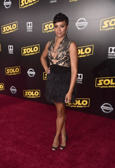 HOLLYWOOD, CA - MAY 10: Carly Hughes attends the world premiere of ìSolo: A Star Wars Storyî in Hollywood on May 10, 2018. (Photo by Alberto E. Rodriguez/Getty Images for Disney) *** Local Caption *** Carly Hughes