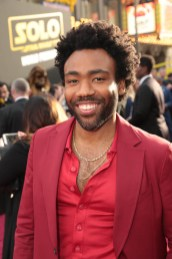 "Donald Glover attends the world premiere of ""Solo: A Star Wars Story"" in Hollywood on May 10, 2018. (Photo: Alex J. Berliner/ABImages)"