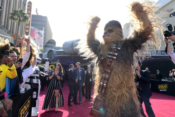 HOLLYWOOD, CA - MAY 10: Chewbacca attends the world premiere of ìSolo: A Star Wars Storyî in Hollywood on May 10, 2018. (Photo by Charley Gallay/Getty Images for Disney) *** Local Caption *** Chewbacca