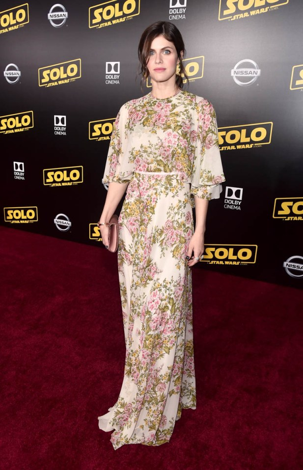 HOLLYWOOD, CA - MAY 10: Alexandra Daddario attends the world premiere of ìSolo: A Star Wars Storyî in Hollywood on May 10, 2018. (Photo by Alberto E. Rodriguez/Getty Images for Disney) *** Local Caption *** Alexandra Daddario