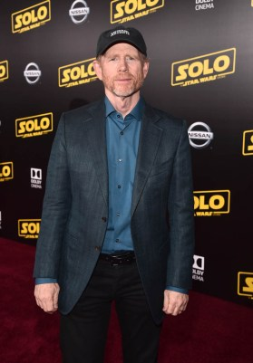 HOLLYWOOD, CA - MAY 10: Director Ron Howard attends the world premiere of ìSolo: A Star Wars Storyî in Hollywood on May 10, 2018. (Photo by Alberto E. Rodriguez/Getty Images for Disney) *** Local Caption *** Ron Howard