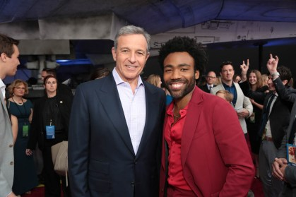 """Bob Iger and Donald Glover attend the world premiere of """"Solo: A Star Wars Story"""" in Hollywood on May 10, 2018. (Photo: Alex J. Berliner/ABImages)"""