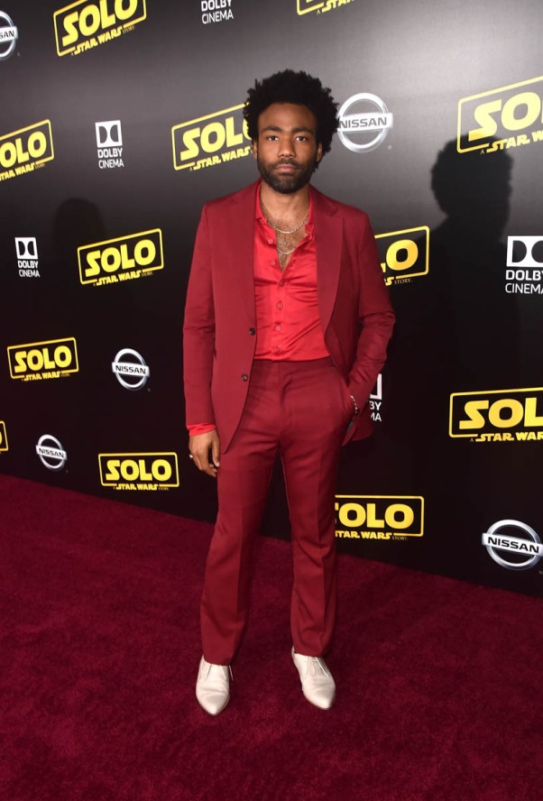 HOLLYWOOD, CA - MAY 10: Actor Donald Glover attends the world premiere of ìSolo: A Star Wars Storyî in Hollywood on May 10, 2018. (Photo by Alberto E. Rodriguez/Getty Images for Disney) *** Local Caption *** Donald GLover