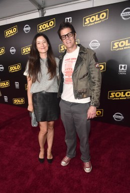 HOLLYWOOD, CA - MAY 10: Naomi Nelson (L) and Johnny Knoxville attend the world premiere of ìSolo: A Star Wars Storyî in Hollywood on May 10, 2018. (Photo by Alberto E. Rodriguez/Getty Images for Disney) *** Local Caption *** Naomi Nelson; Johnny Knoxville