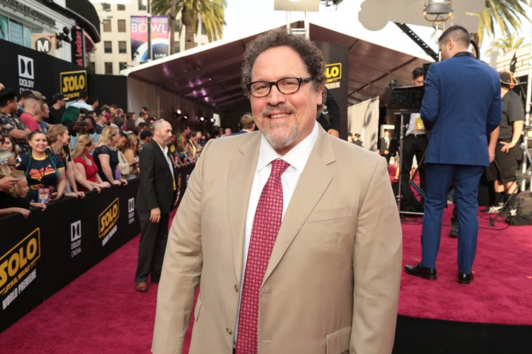 "Jon Favreau attends the world premiere of ""Solo: A Star Wars Story"" in Hollywood on May 10, 2018. (Photo: Alex J. Berliner/ABImages)"