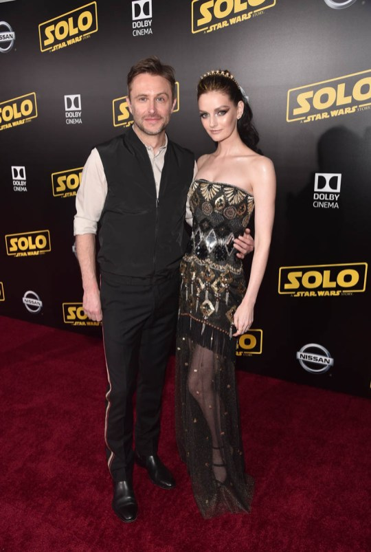 HOLLYWOOD, CA - MAY 10: Chris Hardwick (L) and Lydia Hearst attend the world premiere of ìSolo: A Star Wars Storyî in Hollywood on May 10, 2018. (Photo by Alberto E. Rodriguez/Getty Images for Disney) *** Local Caption *** Chris Hardwick; Lydia Hearst
