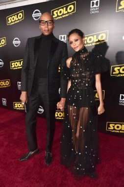 HOLLYWOOD, CA - MAY 10: RuPaul (L) and actor Thandie Newton attend the world premiere of ìSolo: A Star Wars Storyî in Hollywood on May 10, 2018. (Photo by Alberto E. Rodriguez/Getty Images for Disney) *** Local Caption *** RuPaul; Thandie Newton