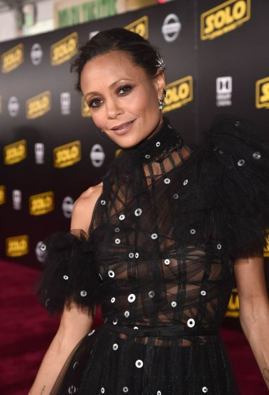 HOLLYWOOD, CA - MAY 10: Actor Thandie Newton attends the world premiere of ìSolo: A Star Wars Storyî in Hollywood on May 10, 2018. (Photo by Alberto E. Rodriguez/Getty Images for Disney) *** Local Caption *** Thandie Newton
