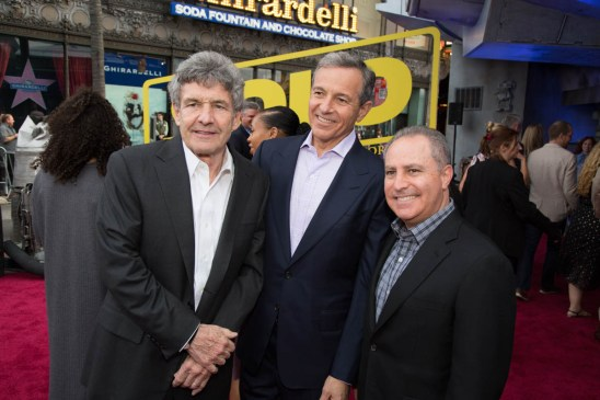 """Alan Horn, Bob Iger and Alan Bergman attend the world premiere of """"Solo: A Star Wars Story"""" in Hollywood on May 10, 2018..(Photo: Alex J. Berliner/ABImages)."""