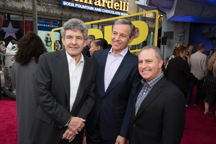 "Alan Horn, Bob Iger and Alan Bergman attend the world premiere of ""Solo: A Star Wars Story"" in Hollywood on May 10, 2018..(Photo: Alex J. Berliner/ABImages)."