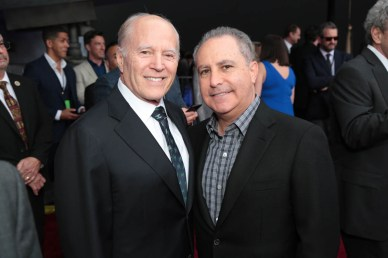 """Frank Marshall and Alan Bergman attend the world premiere of """"Solo: A Star Wars Story"""" in Hollywood on May 10, 2018. (Photo: Alex J. Berliner/ABImages)"""