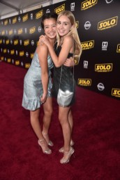 HOLLYWOOD, CA - MAY 10: Actors Peyton Elizabeth Lee (L) and Emily Skinner attend the world premiere of ìSolo: A Star Wars Storyî in Hollywood on May 10, 2018. (Photo by Alberto E. Rodriguez/Getty Images for Disney) *** Local Caption *** Emily Skinner; Peyton Elizabeth Lee