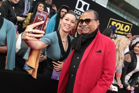 "Billy Dee Williams attends the world premiere of ""Solo: A Star Wars Story"" in Hollywood on May 10, 2018. (Photo: Alex J. Berliner/ABImages)"