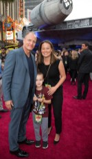 "Woody Harrelson, Ford Harrelson and Jade Harrelson attend the world premiere of ""Solo: A Star Wars Story"" in Hollywood on May 10, 2018..(Photo: Alex J. Berliner/ABImages)."