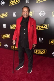 HOLLYWOOD, CA - MAY 10: Billy Dee Williams attends the world premiere of ìSolo: A Star Wars Storyî in Hollywood on May 10, 2018. (Photo by Alberto E. Rodriguez/Getty Images for Disney) *** Local Caption *** Billy Dee Williams