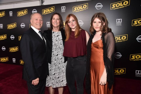 HOLLYWOOD, CA - MAY 10: (L-R) Frank Marshall, Producer Kathleen Kennedy, and guests attend the world premiere of ìSolo: A Star Wars Storyî in Hollywood on May 10, 2018. (Photo by Alberto E. Rodriguez/Getty Images for Disney) *** Local Caption *** Frank Marshall; Kathleen Kennedy