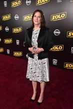 HOLLYWOOD, CA - MAY 10: Producer Kathleen Kennedy attends the world premiere of ìSolo: A Star Wars Storyî in Hollywood on May 10, 2018. (Photo by Alberto E. Rodriguez/Getty Images for Disney) *** Local Caption *** Kathleen Kennedy